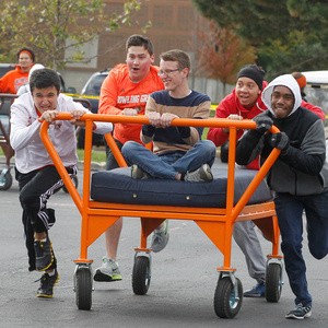Homecoming Bed Races and Block Party