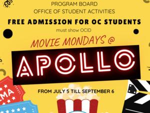 Movie Mondays at Apollo.