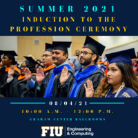 Summer 2021 Induction to the Profession Ceremony