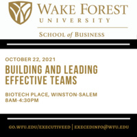 Executive Education - Building and Leading Effective Teams