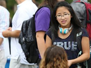 Student at Activity Fair