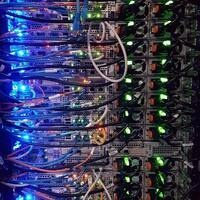 Computer servers with cables