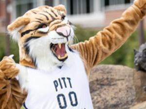 Bruiser the Bobcat on campus
