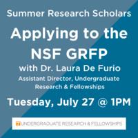 Applying to the NSF Graduate Research Fellowship Program