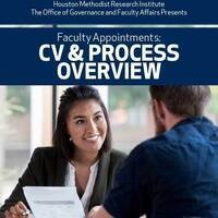Faculty Appointments: CV & Process Overview
