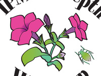 pink petunias surrounded by the words, IPM In-Depth Workshop