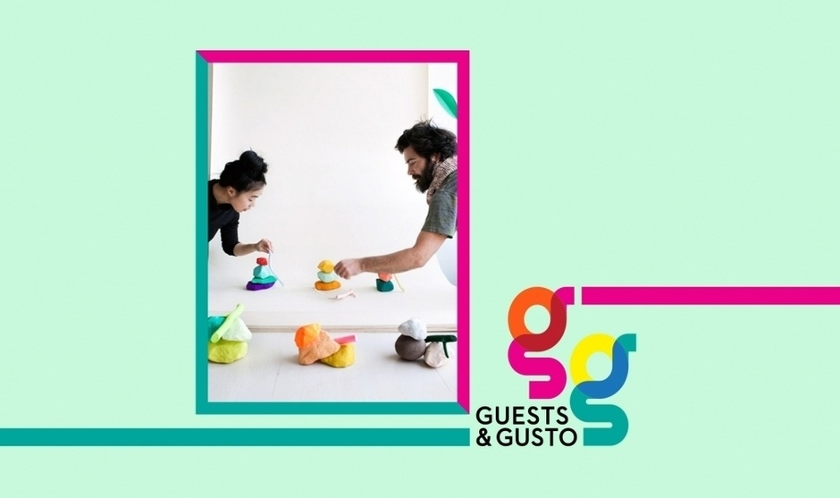Vibe with the joyful art of CHIAOZZA duo Adam Frezza and Terri Chiao on 'Guests and Gusto'