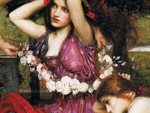 Artwork depicting the goddess Flora.