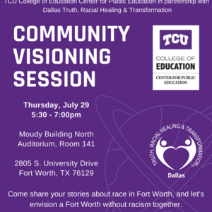 Community Visioning Session poster