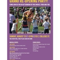 Oberlin Community Music School Re-opening Party!