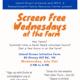 Screen Free Wednesdays