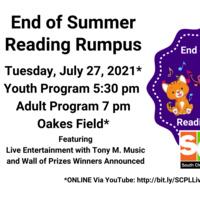End of Summer Reading Rumpus