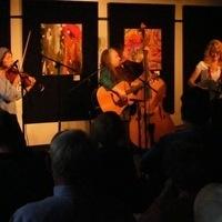 Bluegrass band playing