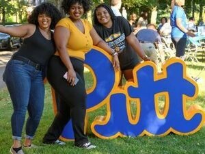 2019 Oakland Square Block Party Attendees Pose for a Photo