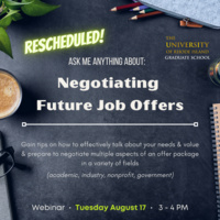 Ask Me Anything About: Negotiating Job Offers