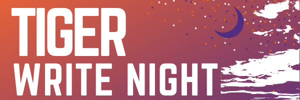 A night sky of Clemson colors.