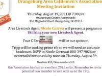 Orangeburg Area Cattlemen's Association Meeting