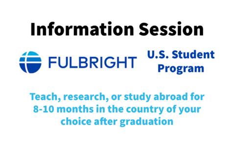 U.S. Student Fulbright Information Session