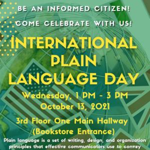 Celebrate International Plain Language Day 2021!