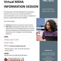 MSHA Virtual Information Session