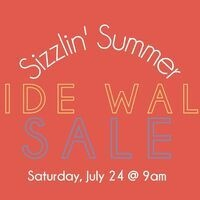 Sizzlin' Summer Sidewalk Sale