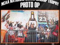 NCAA National Championship Trophy Photo Op