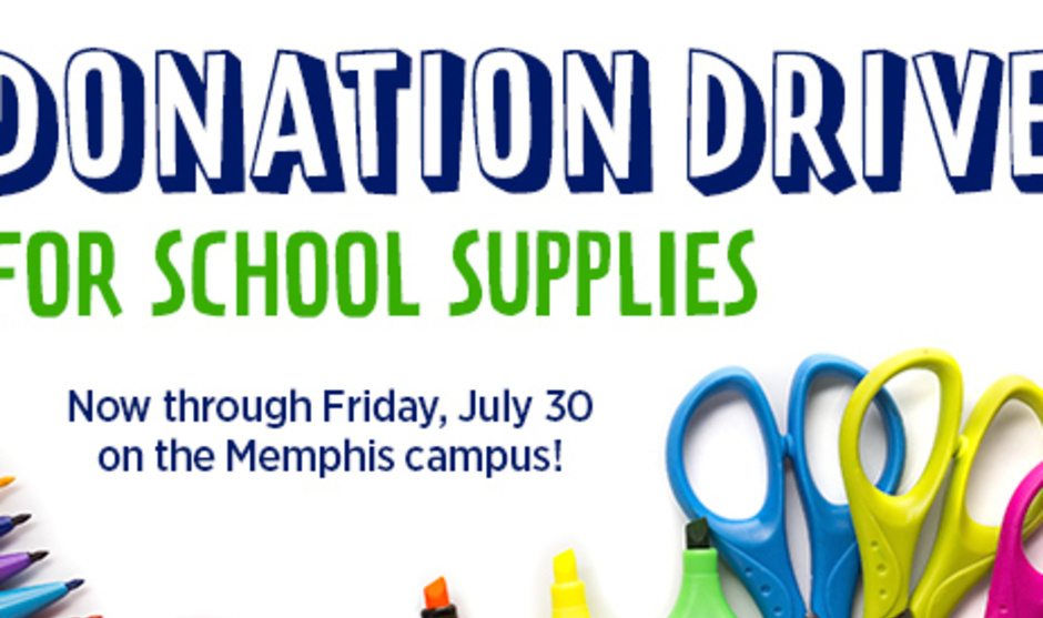 Donation Drive for School Supplies!