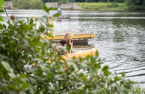 Paddling at Lake Raleigh
