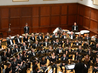 image of Symphonic Winds performers on stage