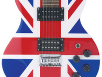 British flag imagery on an electric guitar