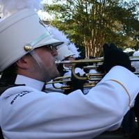 Pride of Mississippi members performing in uniform