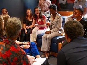Faculty and staff participating in a previous Diversity Forum