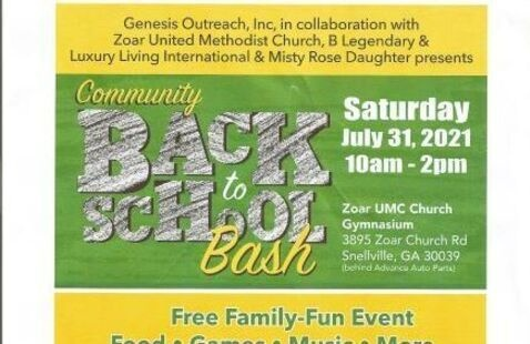 Back To School Bash - Free Family Event providing free school supplies, clothing and shoes. There will be free food, music, games and fun.
