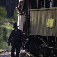 Old West Shootout on the 1880 Train