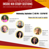 Inside NIH Study Sections: Advice from the Battleground -- Sept 1