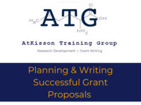 Grant Workshop: Planning & Writing Successful Grant Proposals
