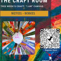 "Craft Room: ""I Am"" Canvas"