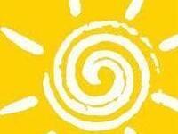 artistic swirl sun in yellow