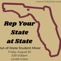 """""""Rep Your State at State"""" Out-of-State Student Welcome Mixer"""