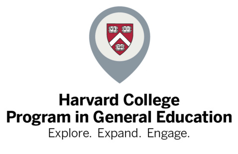 Gen Ed logo. Text reads 'Harvard College Program in General Education: Explore. Expand. Engage.''