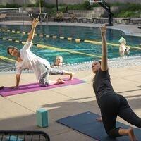 Buff Pool Deck Yoga