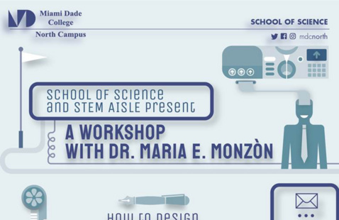 School of Science and STEM AISLE present a workshop with Dr. Maria E. Monzòn on How to Design a Scientific Poster and Present your Research