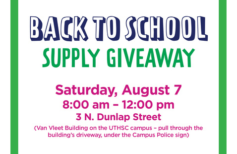 Back to School Supply Giveaway, Saturday, August 7