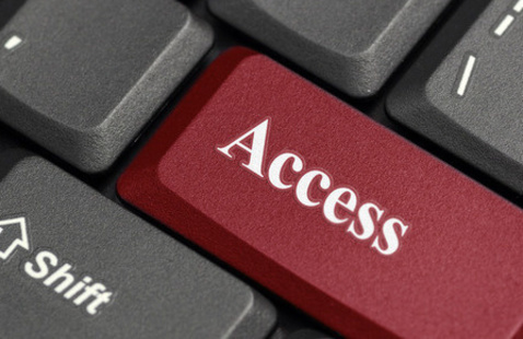 """A computer keyboard with the word """"access"""" on one of the keys."""