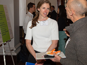 two attendees of 2020 Internal Funding Showcase