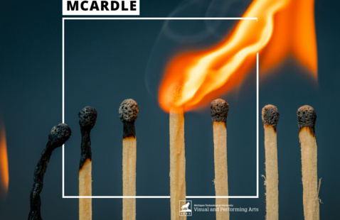 Matches in various stages of burning.