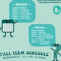BINGO and trivia schedule image