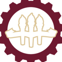 A garnet gear with the three iconic FSU torches in the middle