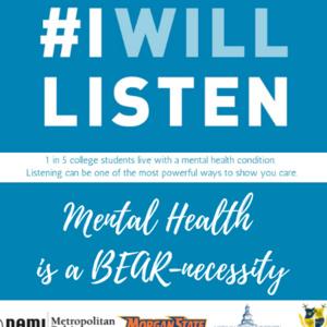 #IWillListen Mental Health Awareness Week