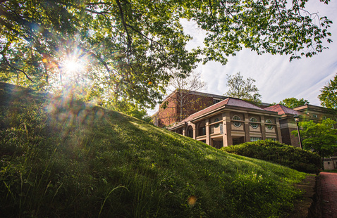 Scripps Hall at sunrise on the Athens OHIO campus